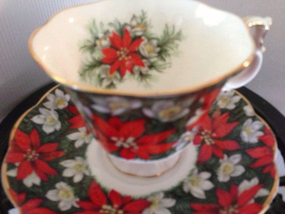 Royal Prince Albert Christmas Tea Cup & Saucer by SylviasFinds, $10.00