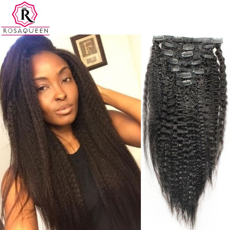 Kinky straight clip in human hair extensions natural brazilian 7a kinky straight clip in human hair extensions natural brazilian 7a african american coarse yaki clip in pmusecretfo Images