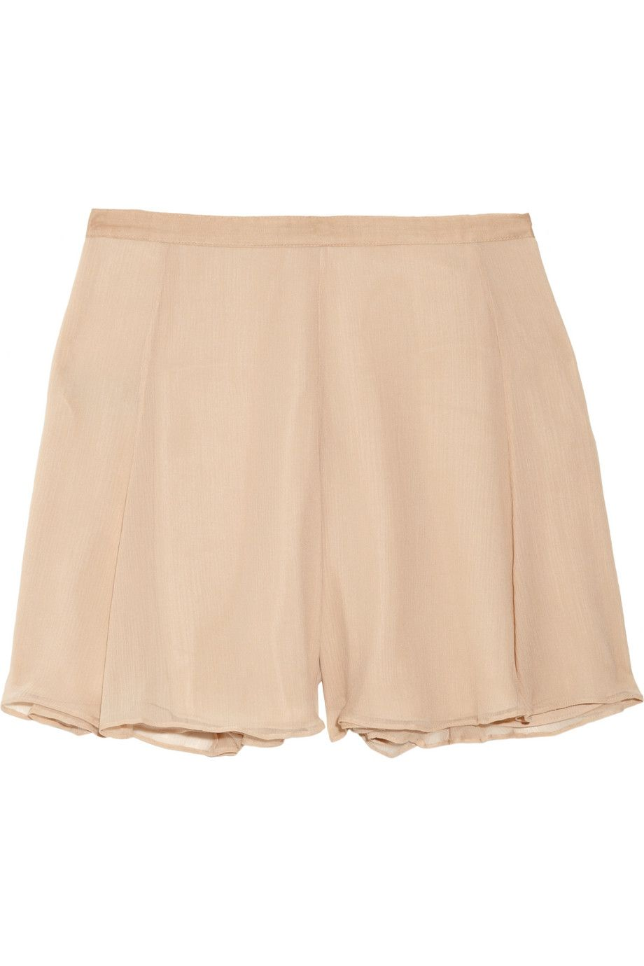 Elizabeth and James - Katia flared silk-chiffon shorts