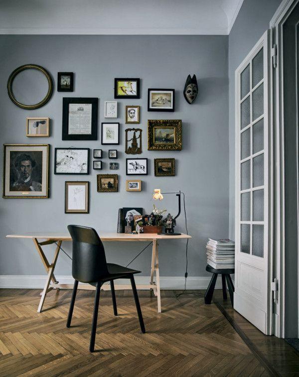 Bilderwand interior design pinterest bilderwand - Arbeitszimmer wandfarbe ...