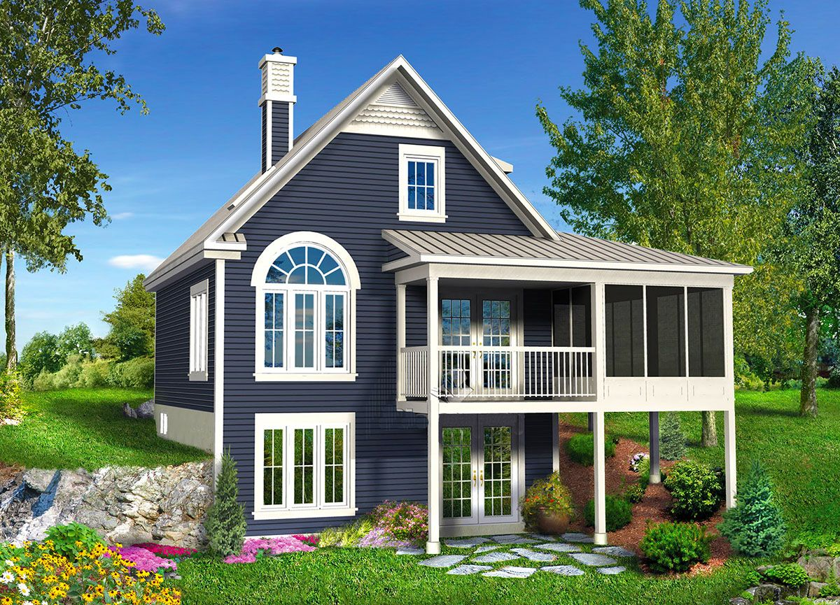 Plan 80646PM: Vacation Escape with Sunroom | Sunroom, Ground floor ...