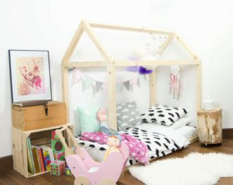 Wood Bed Full Double Toddler Frame