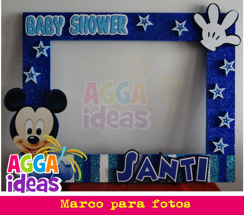Baby Shower Mickey | MARCOS GIGANTES PARA FIESTAS | Pinterest ...