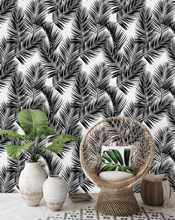 Removable Wallpaper Self Adhesive Wallpaper Black and