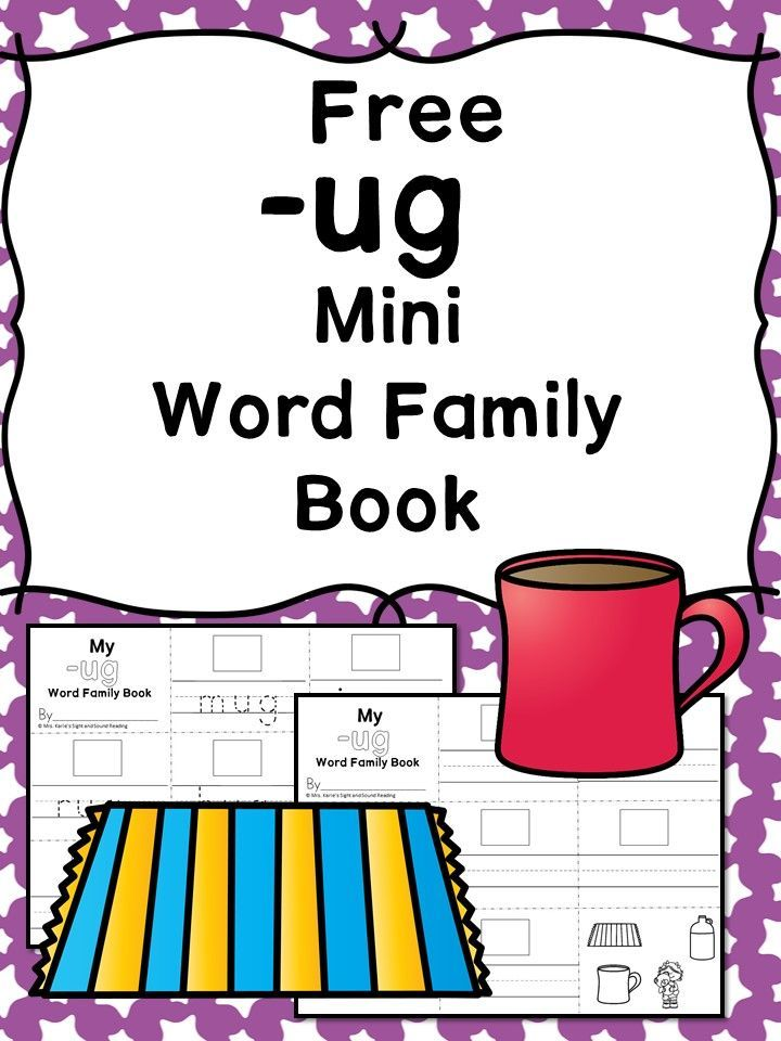 UG CVC Word Family Worksheets -Make a word family book! | Winter und ...