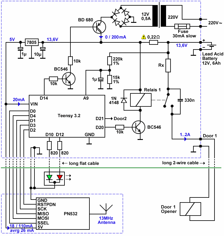 Rfid Door Lock Plans Diy Electronics Rfid Electronics