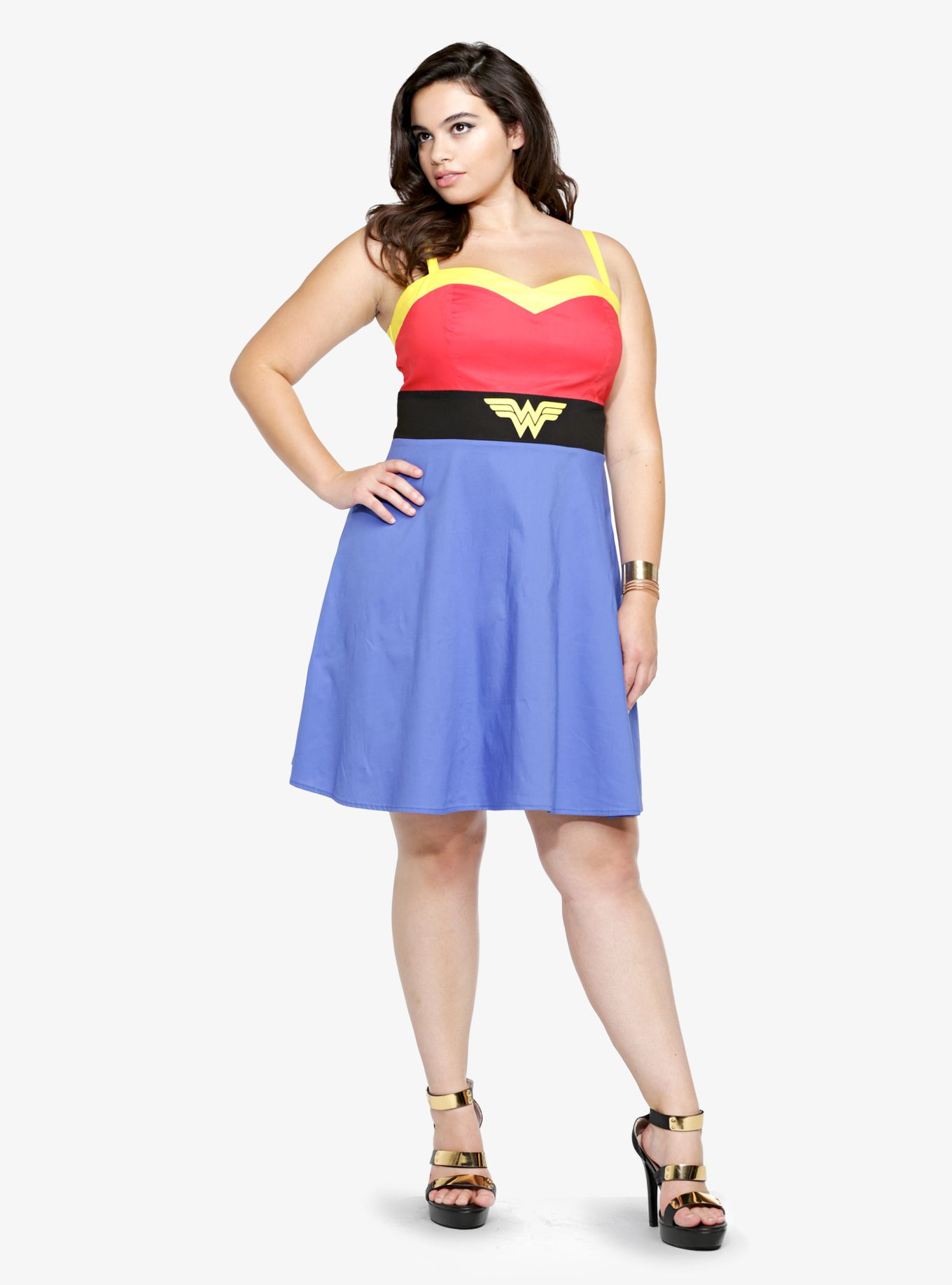 Dress size 24 torrid dress 24 torrid black and white draped v neck - Wonder Woman Skater Dress Torrid