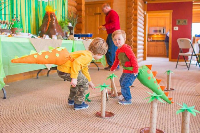 DinoTail Activity from a Dinosaur Birthday Party via Karas Party