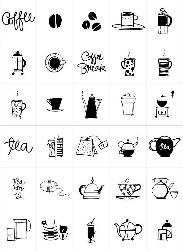 Coffee and Tea Doodles | Illustrations & pictures | Pinterest ...