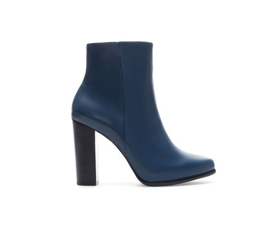 Leather Ankle Boot With Daytime Heel From Zara 159 Purchased October 2013 Love Stiefel Zara Stiefel Schuh Stiefel