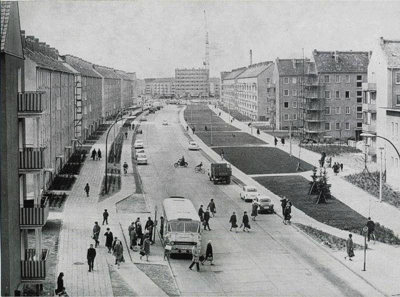 Street Scene Brandenburg An Der Havel East Germany Via Here Street Scenes Brandenburg Street