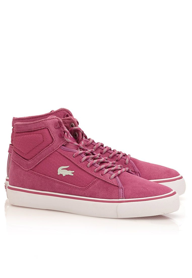 Shop Lacoste purple Vaultstar MID HN Hi Sneakers - Women Shoes in Saudi