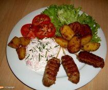 Pulyka kebab fetás reteksalátával