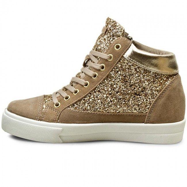 Sneakersy Guess Guya Flguy4 Fam12 Gold High Top Sneakers Top Sneakers Gold