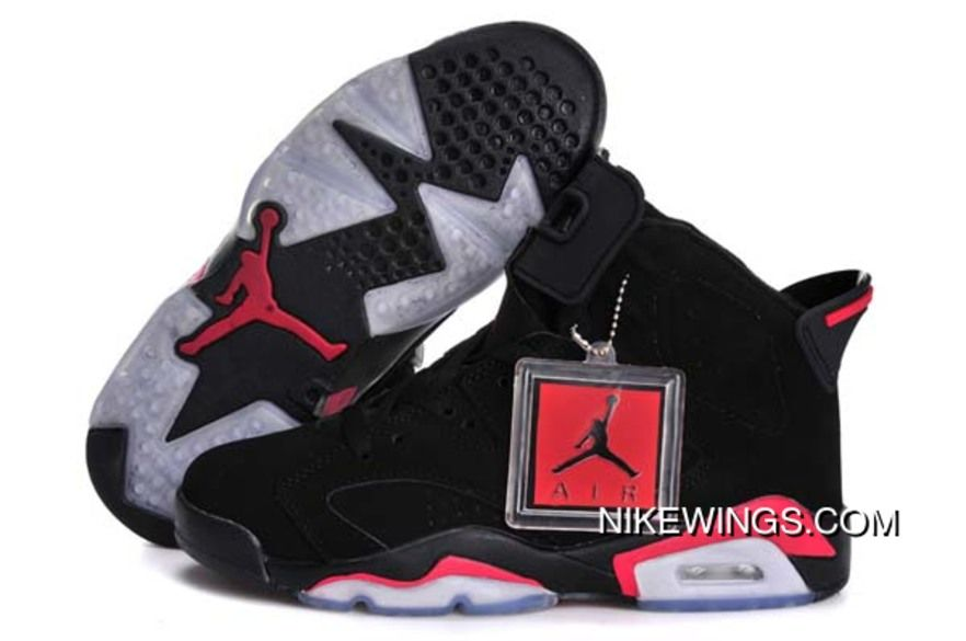 7ae022d923d Red Logo Black All Shoe For Women Air Jordan Retro 6 Vi Shoe For Sale New  Release
