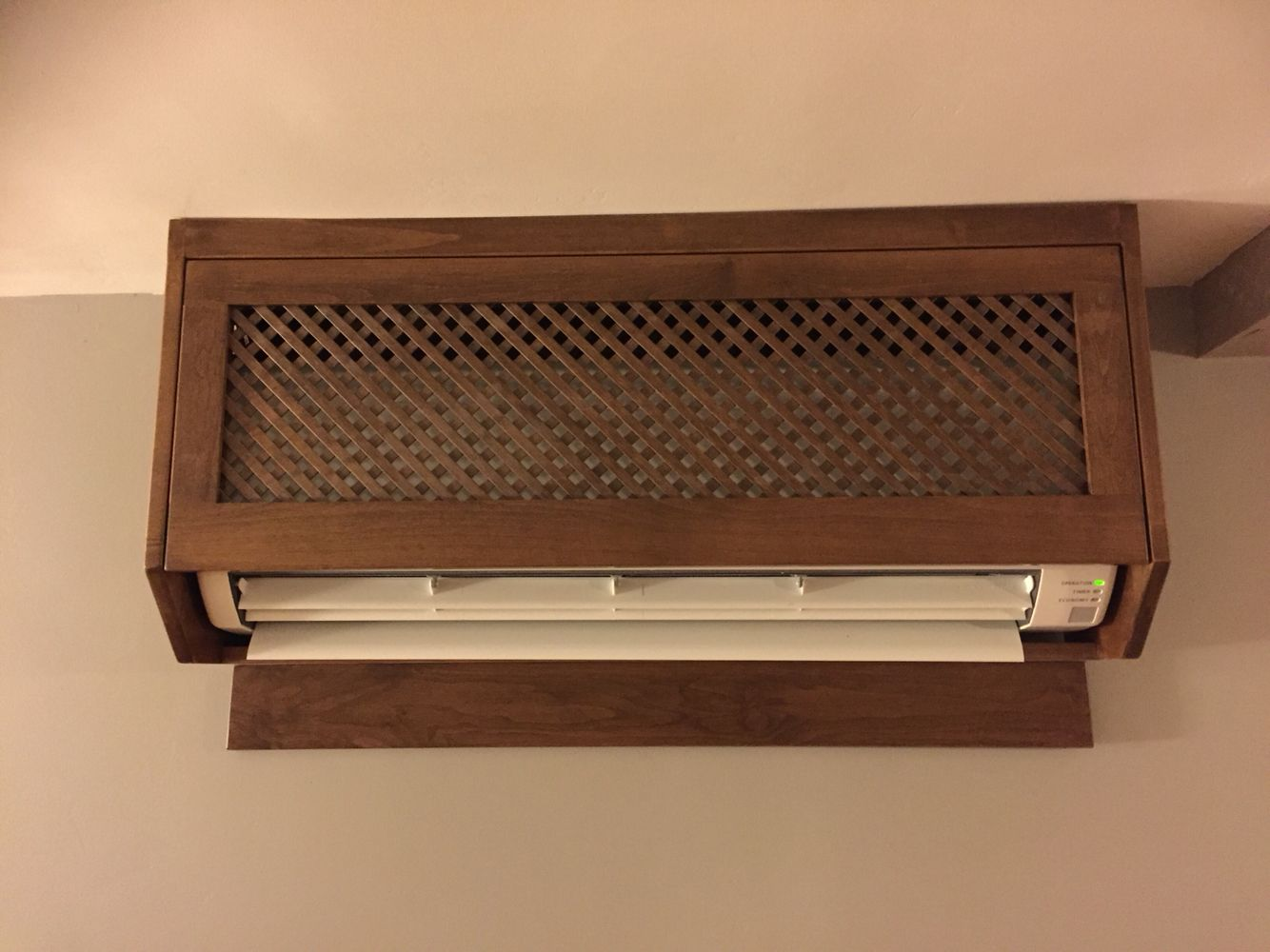 Ductless a c heater cover to make it look nice in my for How to conceal air conditioner unit