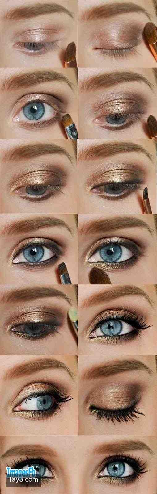 ألبوم طريقة وضع المكياج خطوة بخطوة بالصور Smokey Eye Makeup Blue Eye Makeup Tutorial Eye Makeup