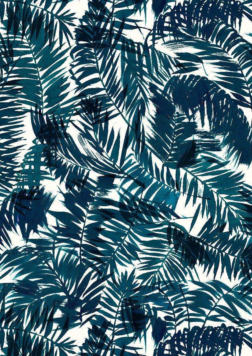 Pattern by minakani for naf naf minakani nafnaf palms for Print wallpaper designs