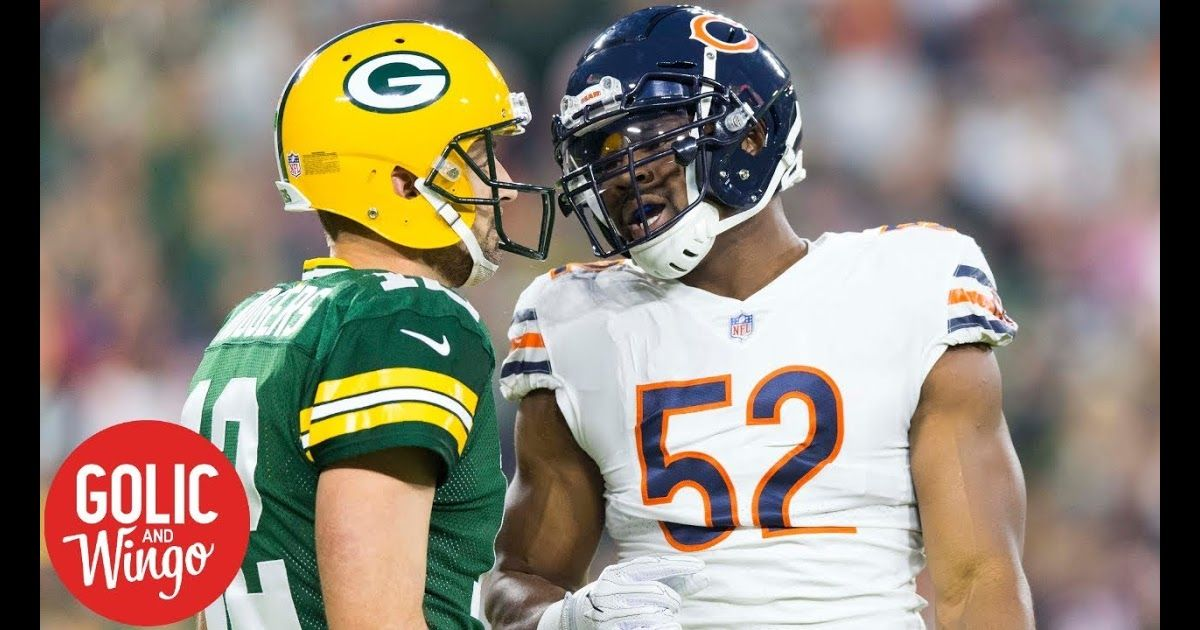 The Nfl On Us Sports Net Featuring Aaron Rodgers Khalil Mack On Golic Jr S Top 7 Players In Nfc North List Nfl Week Nfl Chicago Bears