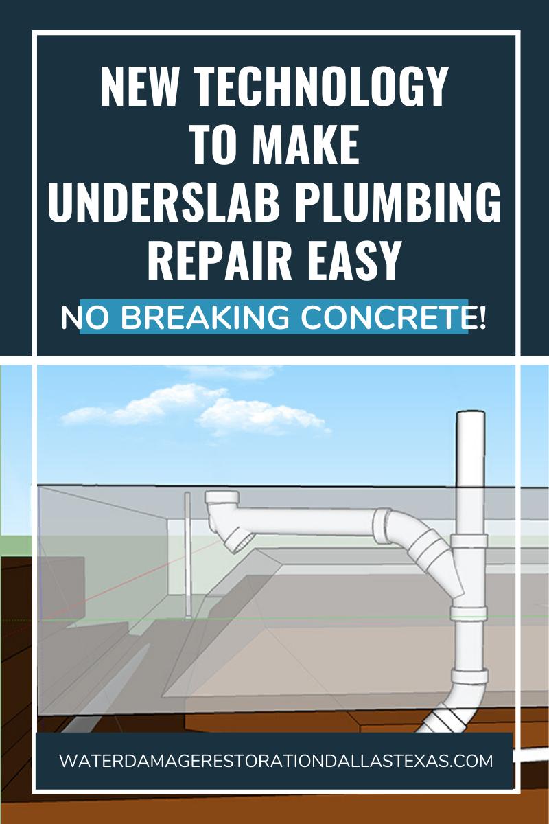 This New Technology Makes Underslab Plumbing Repair Easy No Breaking Concrete Plumbing Repair Plumbing Repair