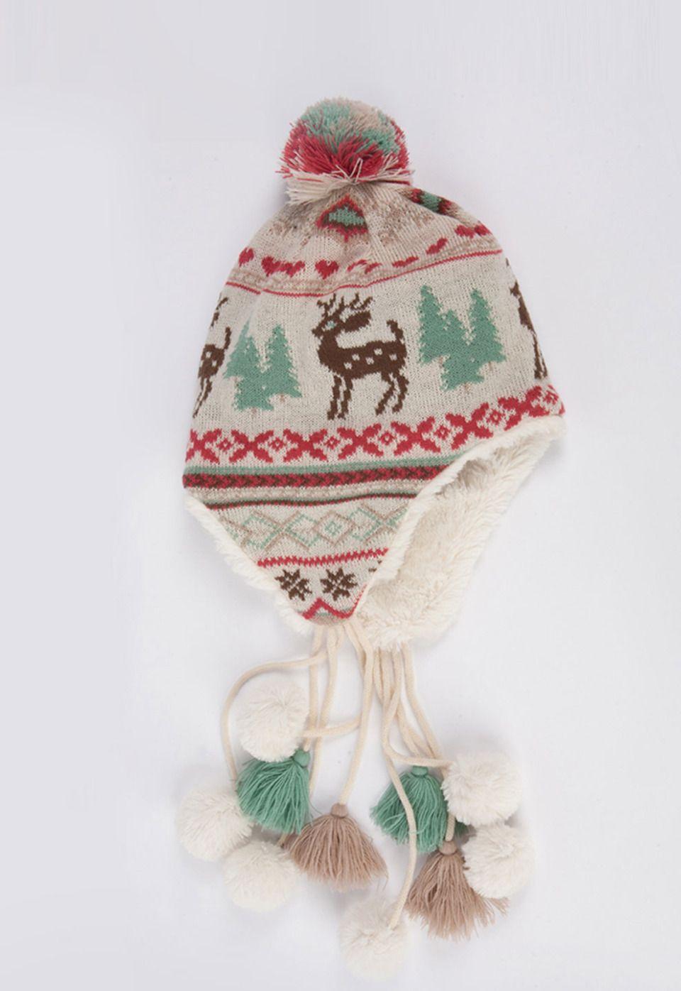 {Scandinavian Multi Pom Tassel Helmet} muk luks - so cute!