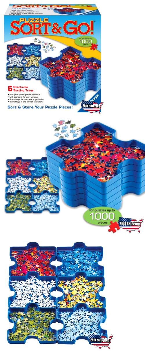 Other Contemporary Puzzles 2615: Stacking Jigsaw Puzzle Sort Trays  Organizer Box Stackable Sorter Kids Toys