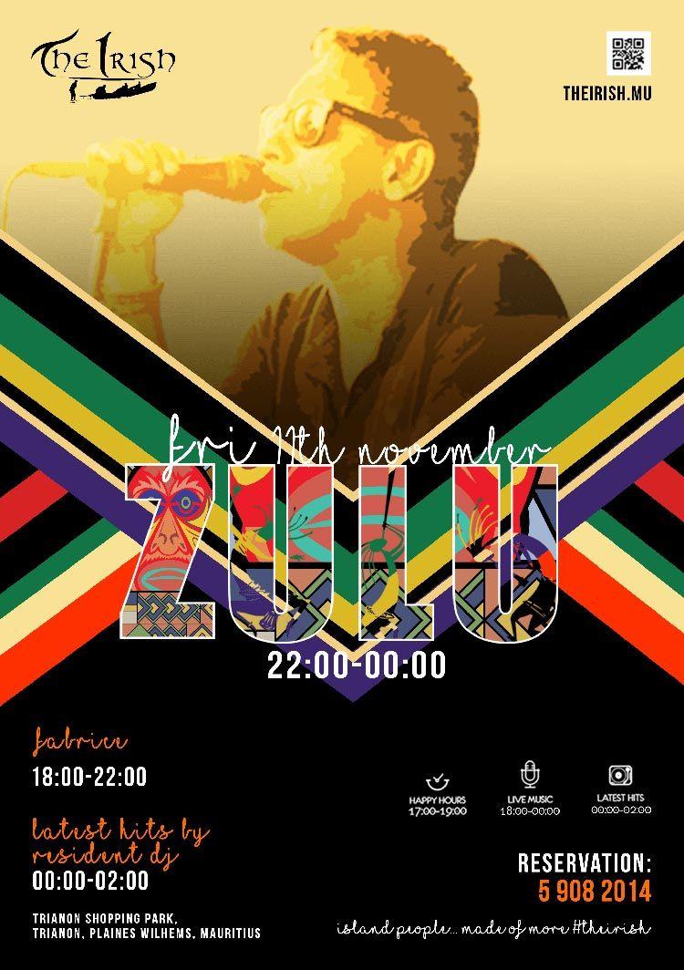 THE IRISH ZULU en concert ce Vendredi 11 Novembre
