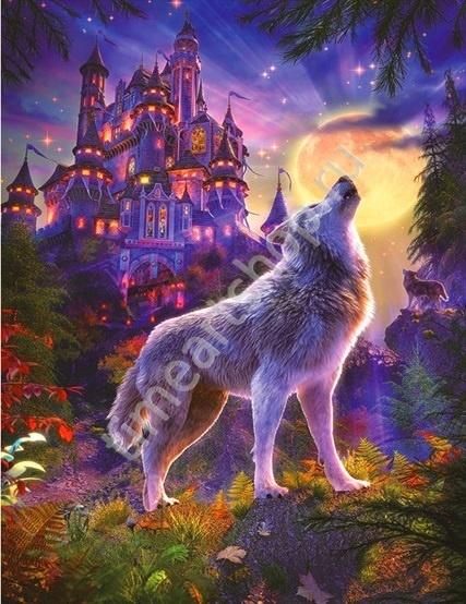 Волчий замок Набор для творчества: картина раскраска по ...
