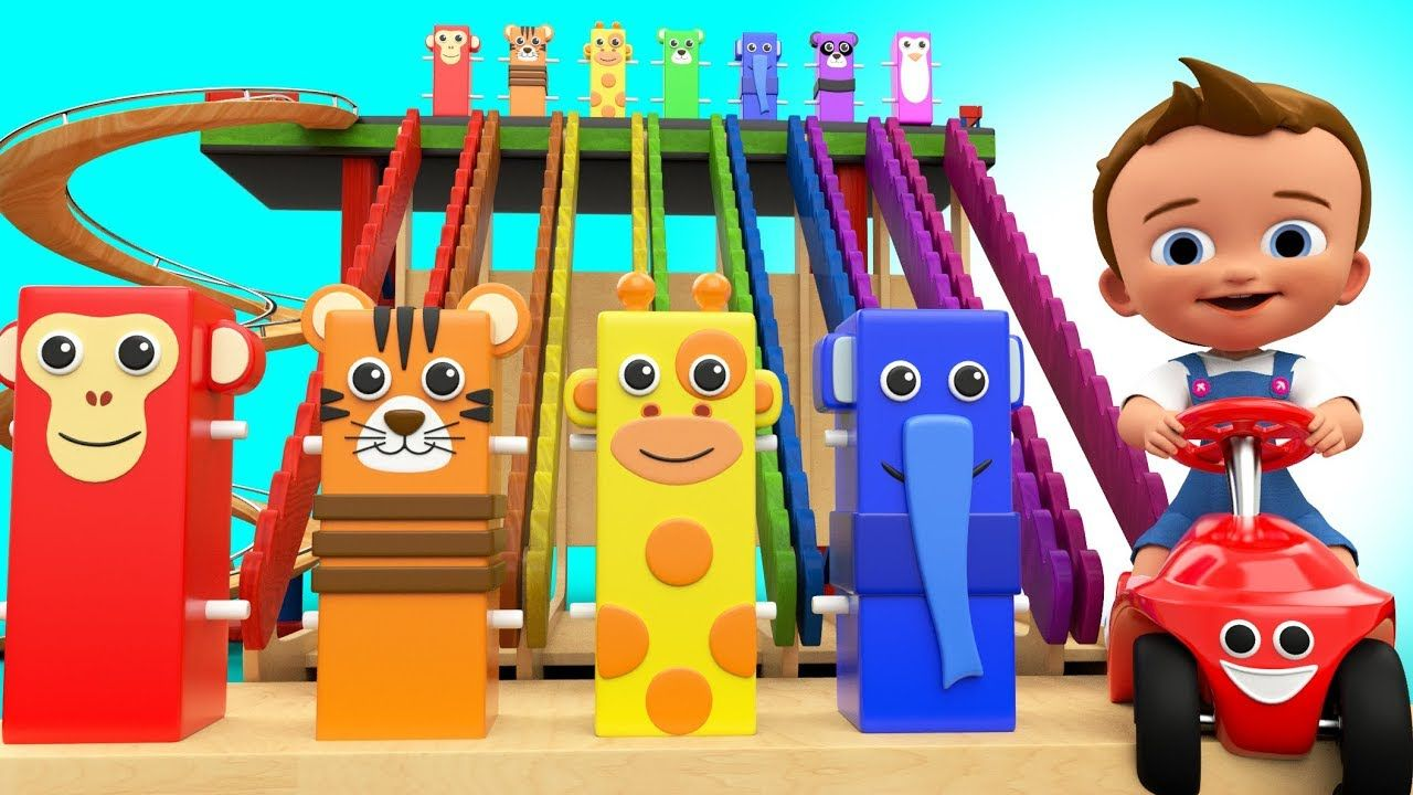 Toys images with names  Baby Playing with Wooden Tumbling Toys to Learning Animals Names D