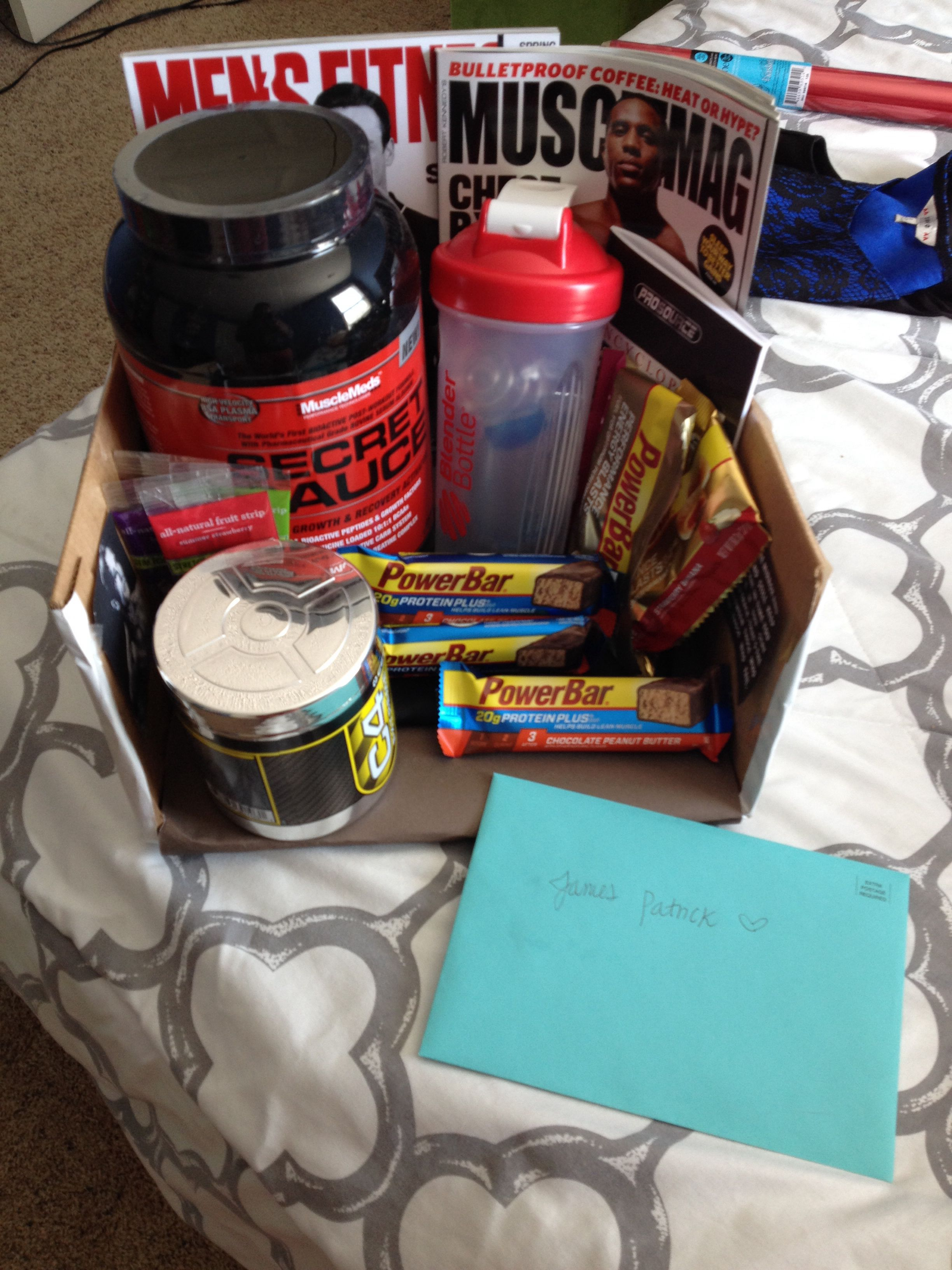Fitness Gift Basket For Him : fitness, basket, Addie, Joseph❤️, Bodybuilding, Gifts,, College, Gifts