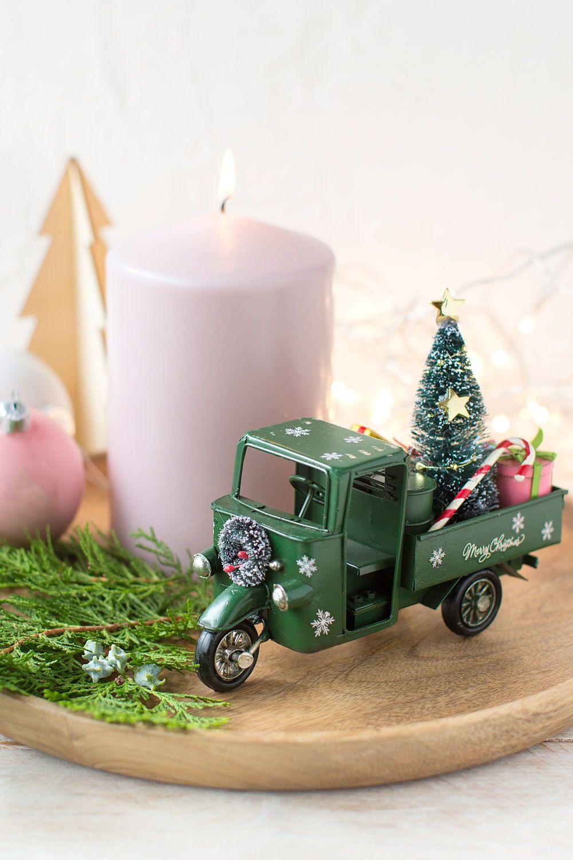 Etiqueta de Vela Verde árbol De Navidad Regalo