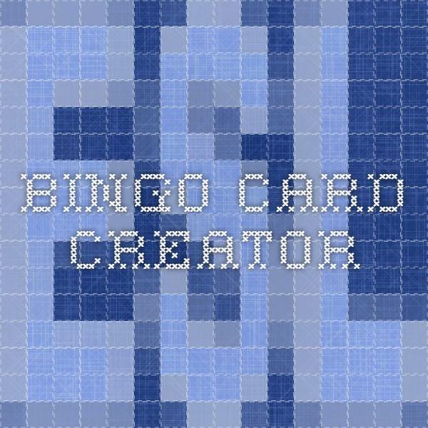 esl activities  bingo card generator bingo cards