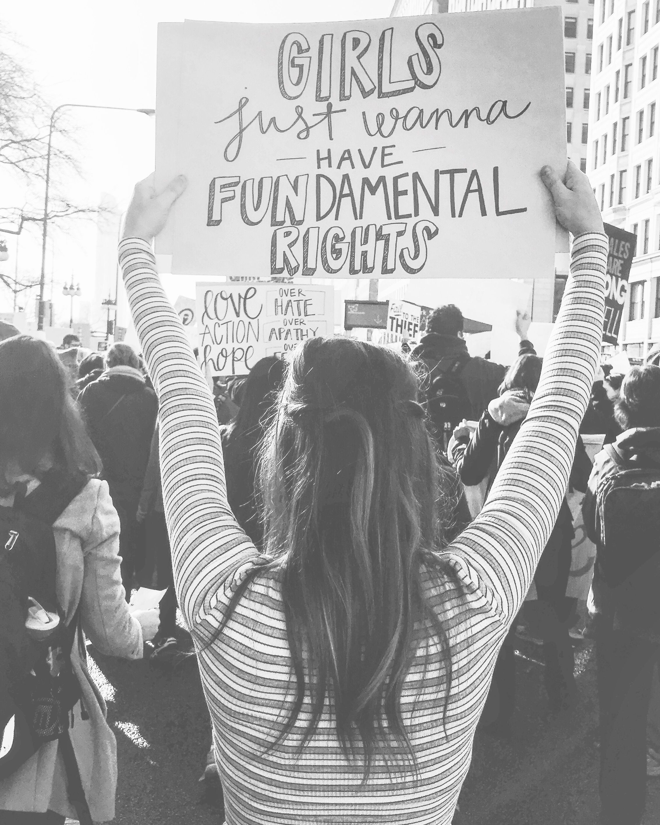 Girls Just Want To Have Fundamental Rights Women S March Girl Power Feminism Feminist Womens March Womens March Posters Womens March Signs