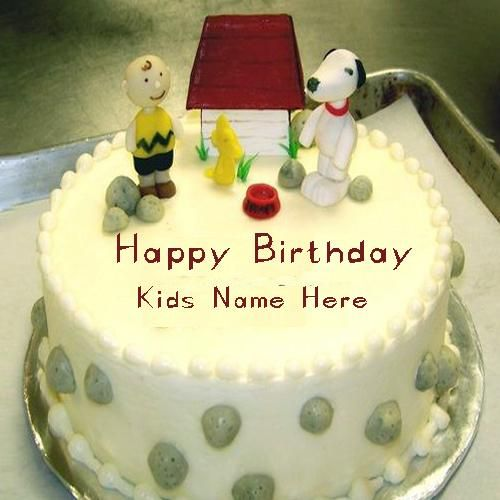 Kids Happy Birthday Cakes Images With Name Edit Onlinecartoon Cake For Namewrite On Cartoon Cakekids Wishes