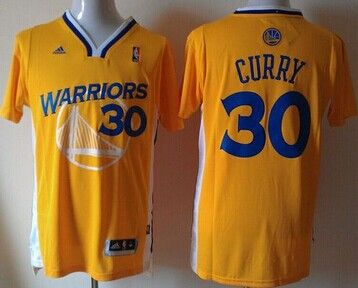 Golden State Warriors #30 Stephen Curry Gold Alternate Stitched NBA Jersey