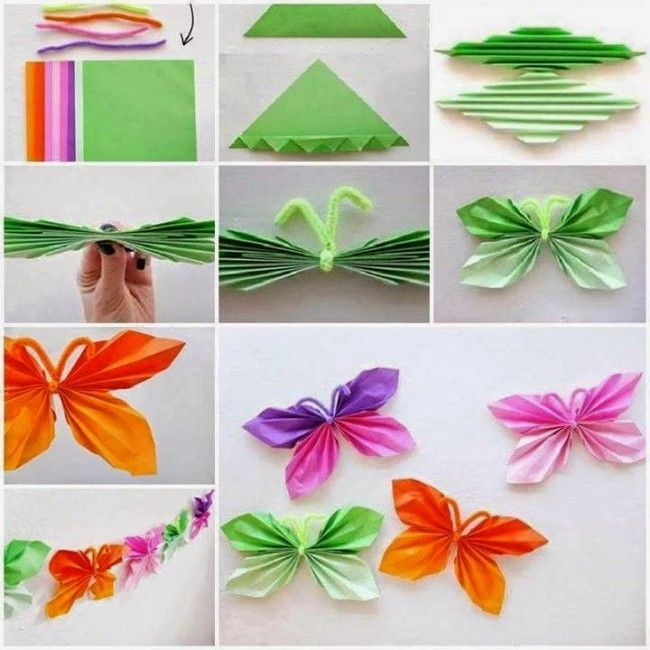Mariposas de papel para decoraci n faciles de hacer paso a - Manualidades facilisimas para ninos ...