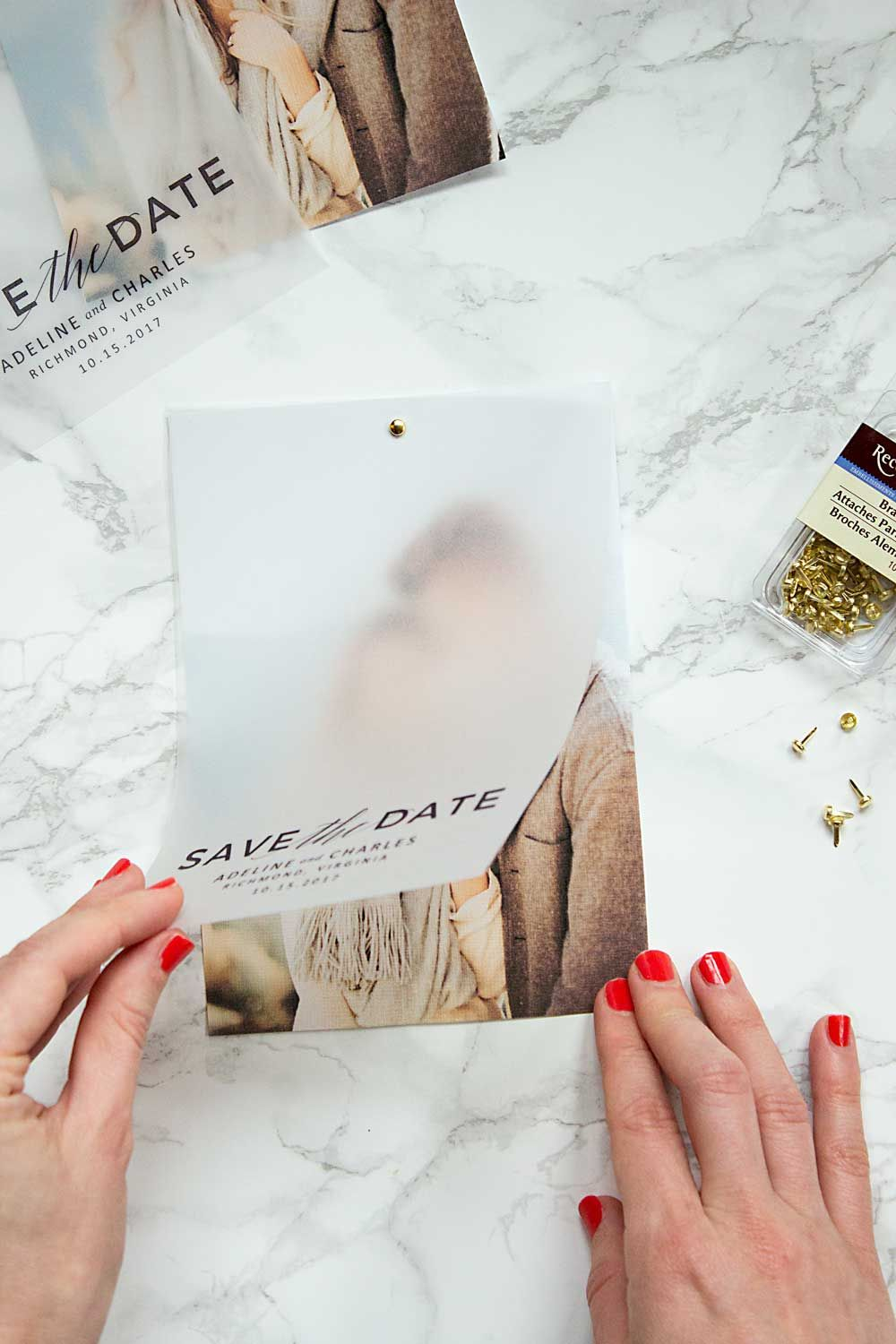 make these gorgeous save the dates at home with this free save the date template