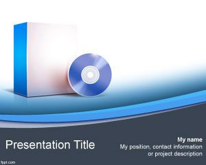 Free Computer Software PowerPoint Template with application