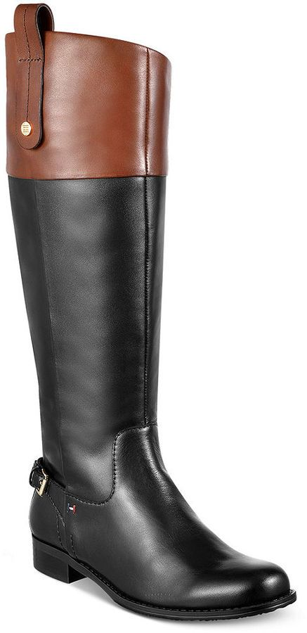 cc1bdb718e862 Tommy Hilfiger Hamden Tall Riding Boots. I love the look of these boots