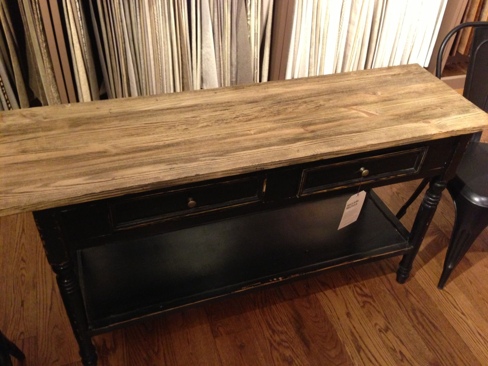 Mix and match console table.
