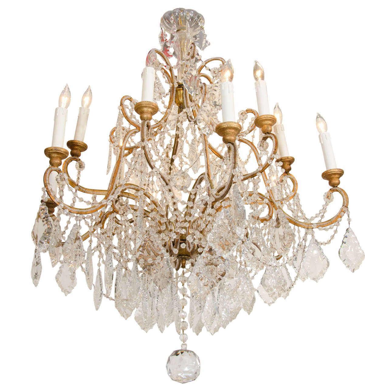 An antique marie antoinette crystal chandelier chandeliers an antique marie antoinette crystal chandelier aloadofball Image collections