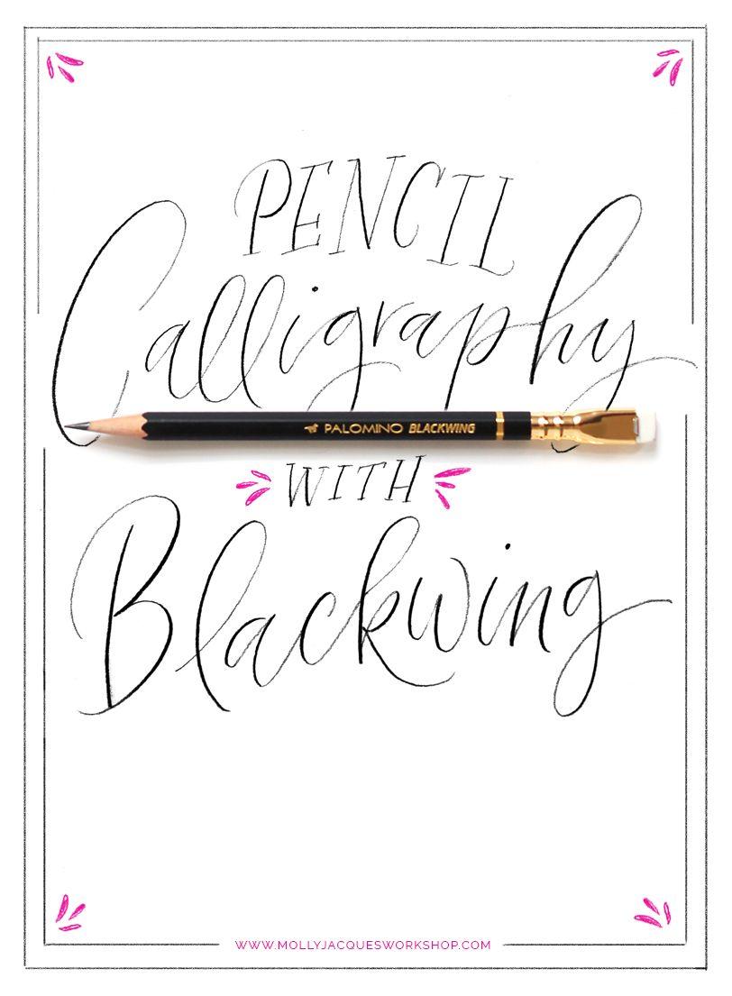 Pencil Calligraphy mollyjacques Pencil calligraphy