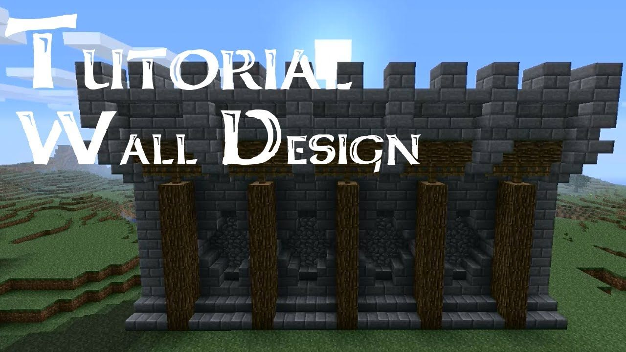 Minecraft tutorial medieval walls version 2 minecraft for Castle design