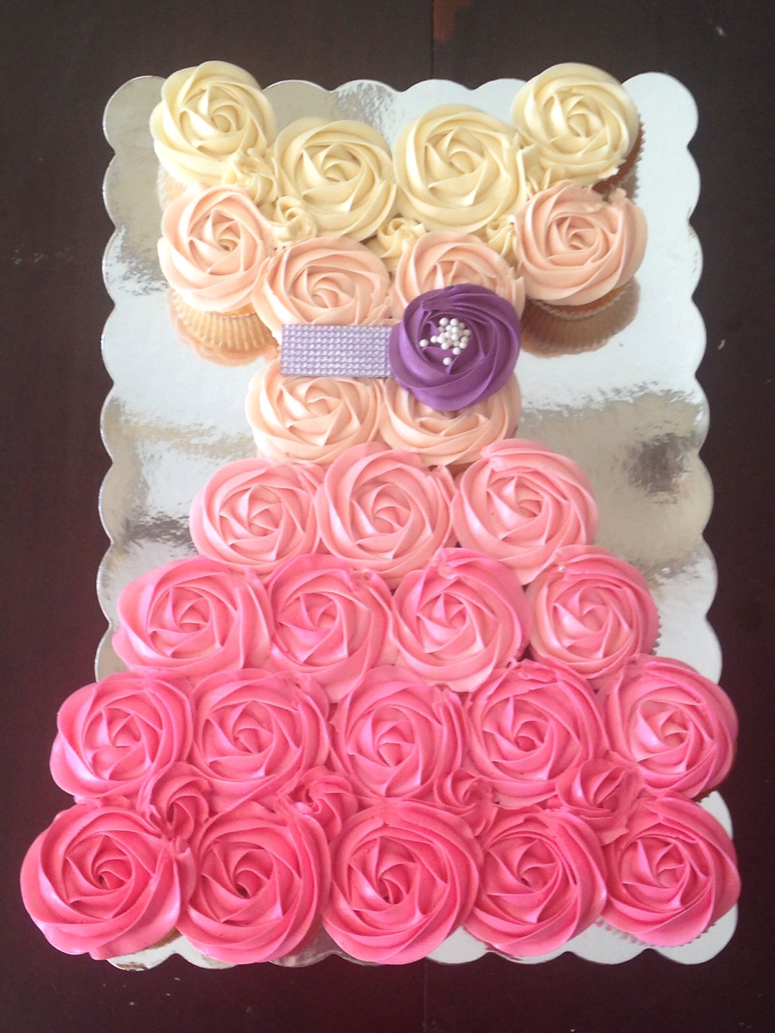 Ombre Cupcake Dress Cake | Calgary, family friendly | Pinterest ...