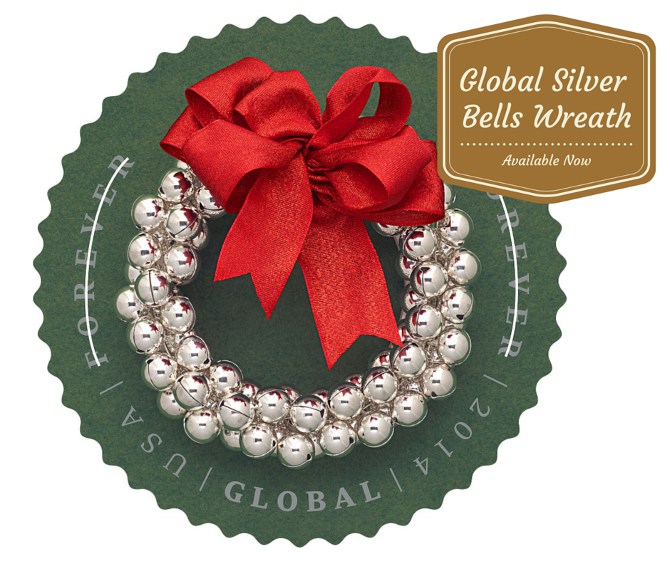 Issued At The 115 Price Silver Bells Wreath Global ForeverR Stamp Can Be