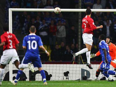To Score A Header Manchester United Ronaldo Goals Champions League Final