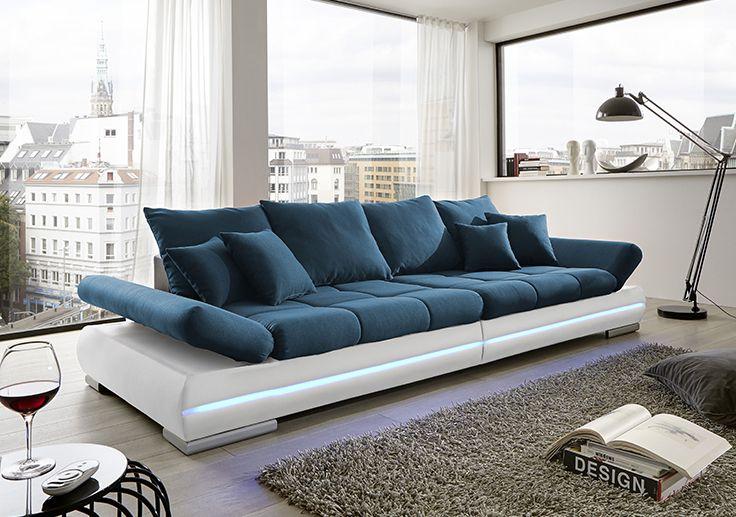 Wohnzimmer Garnituren ~ Garnitur cannes mit led beleuchtung und boxensystem über bluetooth