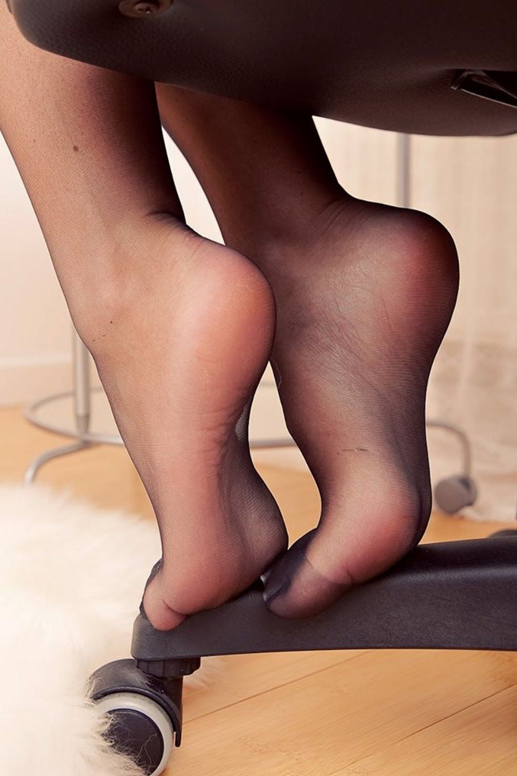 Sexy stocking foot