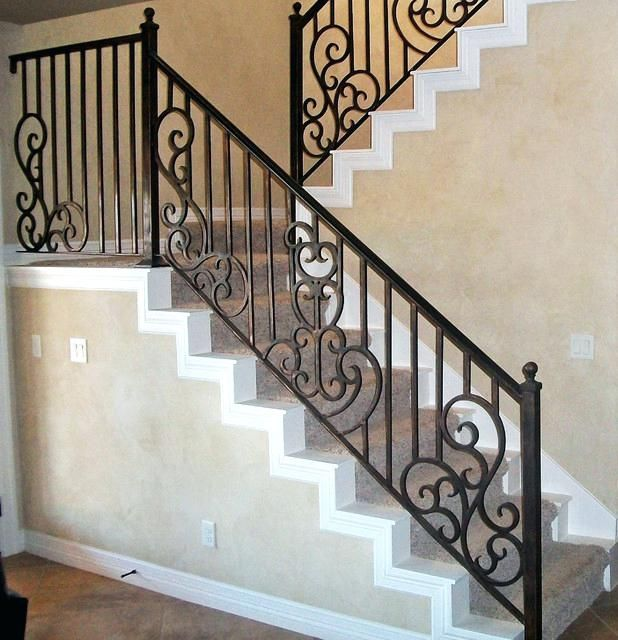 Image Result For Wrought Iron Railing Makeover Costs Stair Railing Indoor Stair Railing Stair Railing Kits