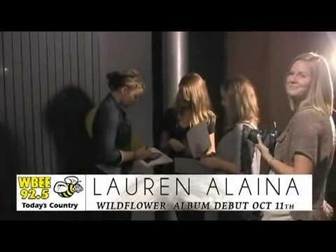 Lauren Alaina & Scotty McCreery visit WBEE 92.5 in New York.